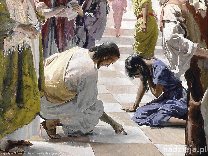 JESUS WRITING MARY