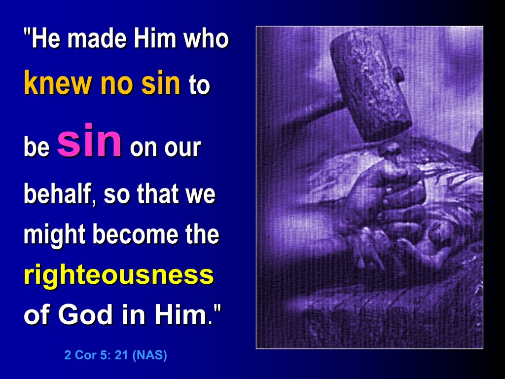 christ made sin for us 2 cor 5,21