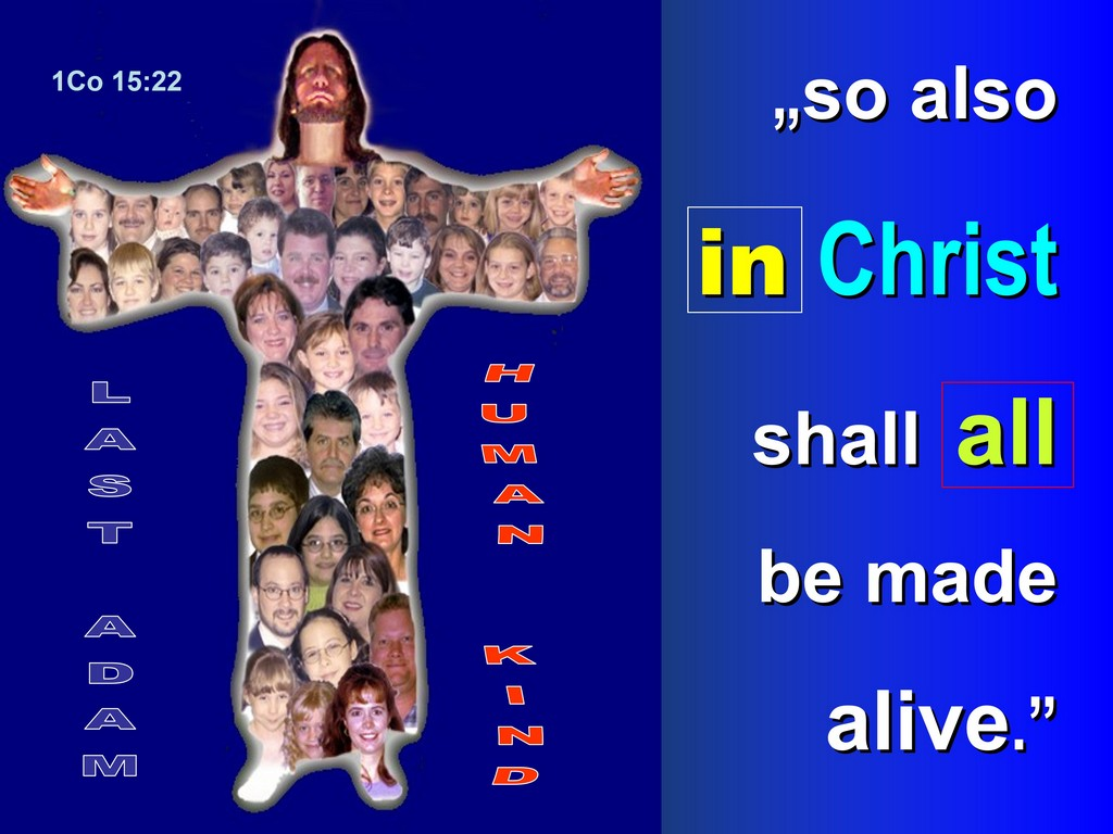 in christ all will be made alive 1cor 15,22
