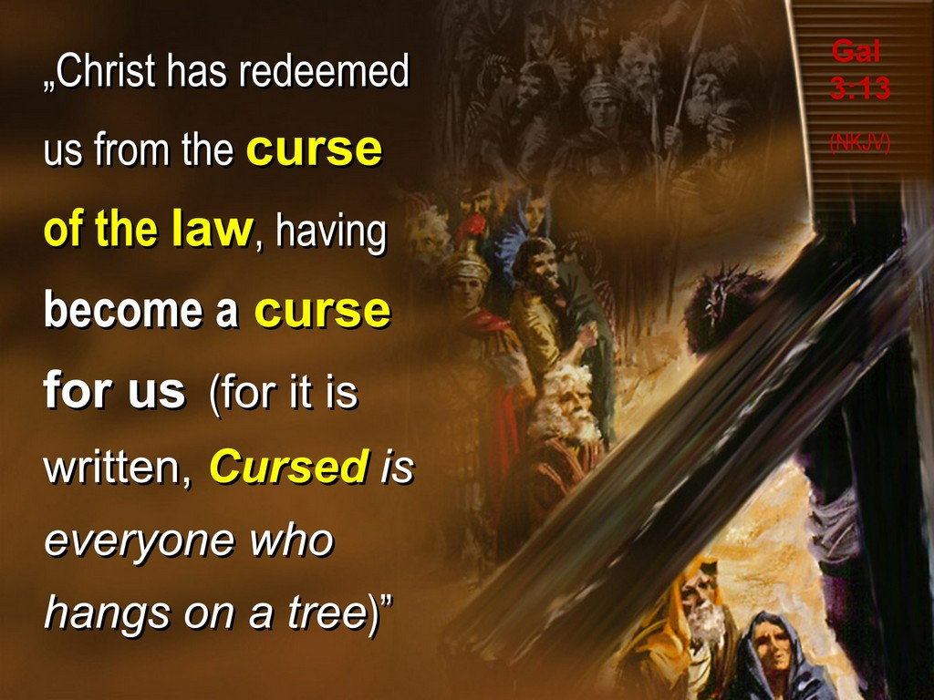 christ became curse for us, gal 3,13
