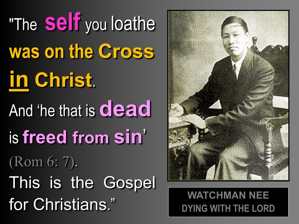 IN CHRIST MOTIF & CHRIST'S INCARNATION - WATCHMAN NEE